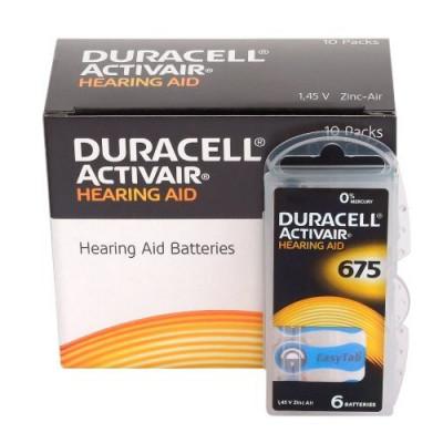Baterii Duracell 675 pentru aparate auditive , 60 baterii / set foto