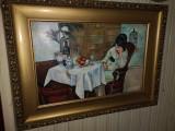 Cumpara ieftin Tablou vechi semnat, Portrete, Ulei, Impresionism