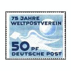 DDR 1949 - 75 ani UPU, neuzat