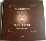 2009 Romania - Album filatelic Bucuresti 550 ani LP 1845 b, colita speciala UV