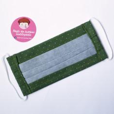 Masti din bumbac 100% reutilizabile, adulti, model verde buline