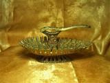 Iudaica! Spargator nuci, Menorah, Jerusalem, bronz, colectie, vintage