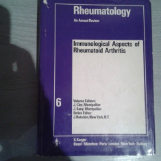 RHEUMATOLOGY IMMUNOLOGICAL ASPECT OF RHEUMATHOID ARTHRITIS-J.CLOT MONTPELLIER,J.SANY MONTPELLIER,