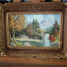 Tablou ulei pe panza  - Peisaj de munte 1, Peisaje, Realism