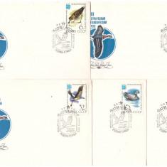 URSS 1982 - Pasari, serie FDC