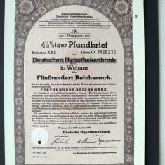Titlu De Stat Obligatiune Germania-1939-500-Reichsmark