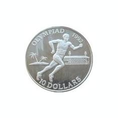 Insulele Solomon 10 Dollars 1992 - (Athlete )  Argint 31.42g/925, Aoc1 KM-48 UNC