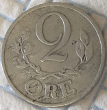 Moneda istorica 2 Ore - DANEMARCA, anul 1943  *cod 637 - ZINC