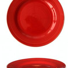 Farfurie ceramica 19cm rosie Raki