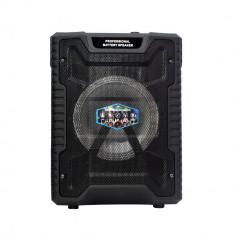 Boxa bluetooth tip troler,180W LT-0812 redare microSD, usb, aux, radio fm, +MIC.
