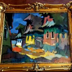 Tablou Ulita in Baia Mare Nagy Oszkar, Peisaje, Ulei, Impresionism