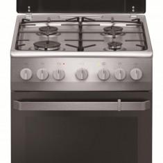 Aragaz mixt Hansa FCMX581009, cuptor electric, 50 cm, 4 arzatoare, programator, 8 functii, grill, ventilator, aprindere electrica, siguranta, capac em