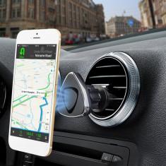 Suport auto pentru telefon, 360 de grade, magnetic, negru, Gonga