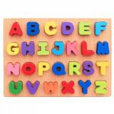 Cumpara ieftin Puzzle din lemn cu litere de tipar - Alfabet