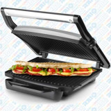Sandwich maker profesional Double cu grill, 2 în 1, Hausberg, placă de gătit din granit antiaderent