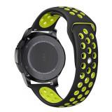 Curea silicon Tech-Protect Softband Samsung Galaxy Watch (42mm) Black/Lime