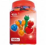 SET : 100 x  Baloane petrecere copii, diverse modele. Multicolor