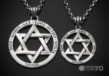 Medalion Pandantiv Steaua lui David Hexagrama Argint - cod PND916
