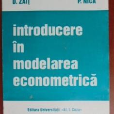 Introducere in modelarea economica- D. Zait, P. Nica