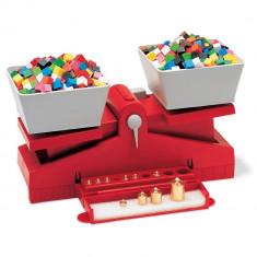 Balanta de precizie cu greutati Learning Resources, plastic rezistent, 30 x 15 cm