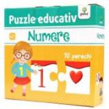 Puzzle educativ. Numere