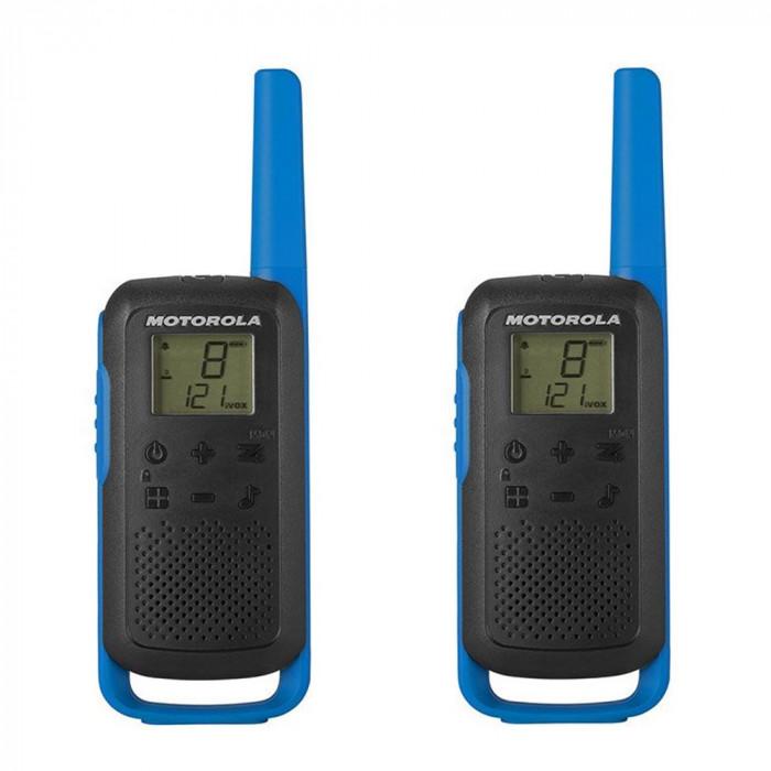 Resigilat : Statie radio PMR portabila Motorola TALKABOUT T62 BLUE set cu 2 buc