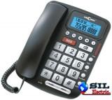Telefon cu fir de masa cu afisaj, negru, 5030 Concorde
