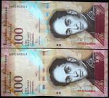 Lot/Set Bancnote 100 BOLIVARES - VENEZUELA: SERII CONSECUTIVE  *cod 768 B - UNC