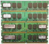 KIT  DDR2 DESKTOP , 4 X 1GB =  4GB , FSB533  , IMPECABILE ! TRANSPORT GRATUIT !, DDR 2, 4 GB, Quad channel, PQI