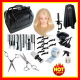 Set Kit Frizerie Coafor Foarfeca Tuns Filat Cap practica Geanta cosmetice
