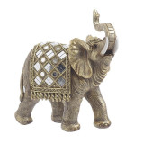 Elefant din rasina Golden 22cm x 8cm x 23cm