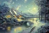 Puzzle Schmidt - 500 de piese - Thomas Kinkade : Christmas Moonlight