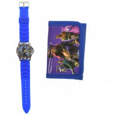 Set ceas, pentru copii, cu Fortnite, portofel cadou