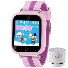 Ceas GPS Copii iUni Kid601, Telefon incorporat, Alarma SOS, 1.54 Inch, Touchscreen, Jocuri, Pink + Boxa Cadou