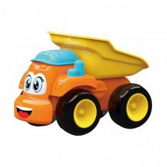 Mini vehicul articulat Friction Truck - Basculanta, Portocaliu