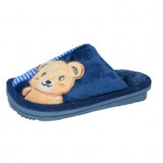 Papuci de casa pentru baieti Haotai 32891-B, Bleumarin