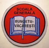 5.502 ROMANIA ECUSON SCOALA GENERALA BUNGETU-VACARESTI 77mm