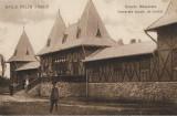 Carte postala Scoala de inot Baile Felix austro-ungara