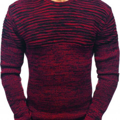 Pulover pentru bărbat negru-roșu Bolf 156