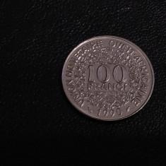 Monedă 100 Francs 1990 Africa