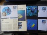 Serie timbre fauna marina WWF animale pesti nestampilat postale
