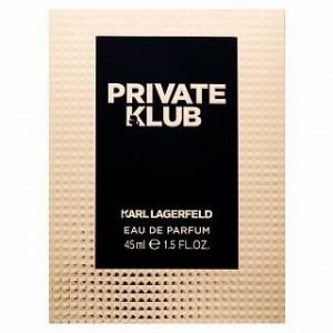 Lagerfeld Private Klub for Her Eau de Parfum pentru femei 45 ml
