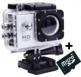 Camera Sport iUni Dare 50i HD 1080P, 12M, Waterproof, Argintiu + Card MicroSD 8GB Cadou