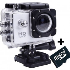 Camera Sport iUni Dare 50i HD 1080P, 12M, Waterproof, Argintiu + Card MicroSD 8GB Cadou