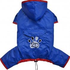 Pelerina ploaie cu gluga - albastru - Doggydolly - BD451 (Marime: M)