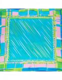 Batic dama matase naturala Pami, abstract bleu