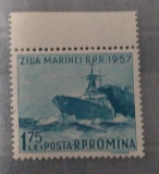 Romania 1957, LP435, serie Ziua marinei, MNH, Nestampilat