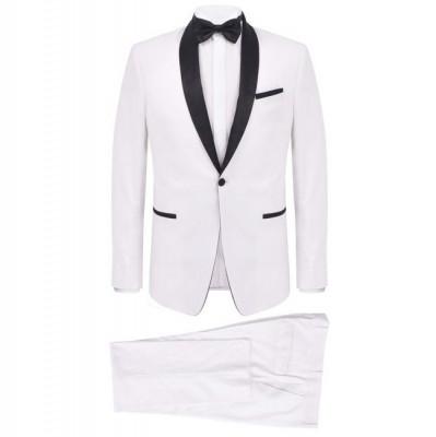 Costum de seară/frac bărbătesc, 2 piese, mărime 56, alb foto