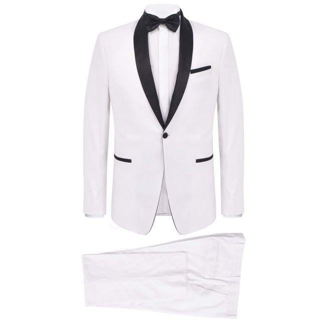 Costum de seară/frac bărbătesc, 2 piese, mărime 56, alb
