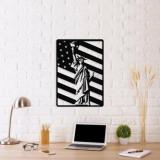 Decoratiune pentru perete, Ocean, metal 100 procente, 57 x 40 cm, 874OCN1050, Negru